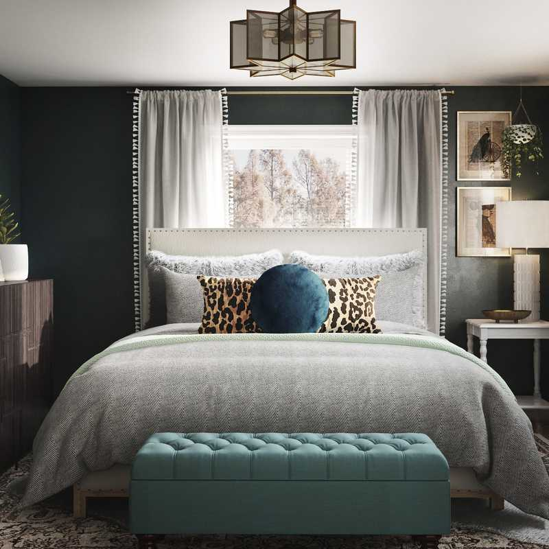 Eclectic, Bohemian, Glam Bedroom Design by Havenly Interior Designer Sara