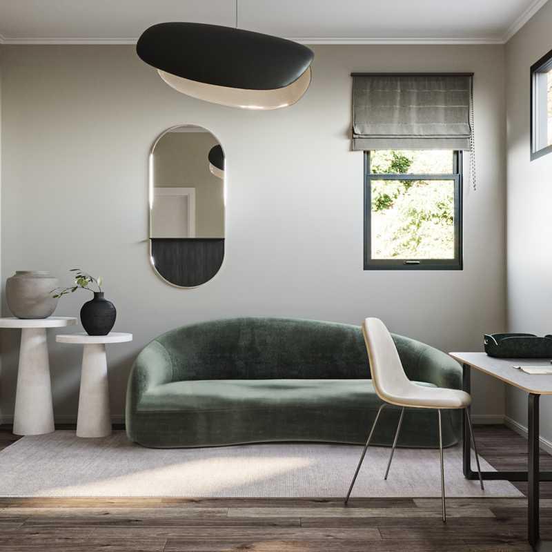 Modern, Minimal Office Design by Havenly Interior Designer Sawyer