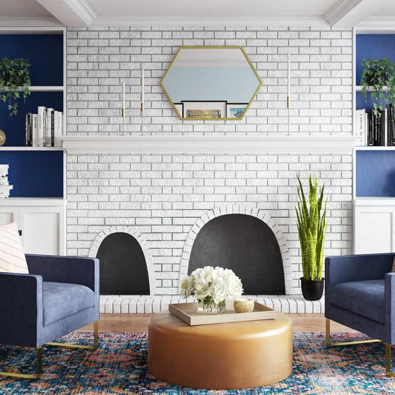 Eclectic, Glam Living Room Design by Havenly Interior Designer Shannon