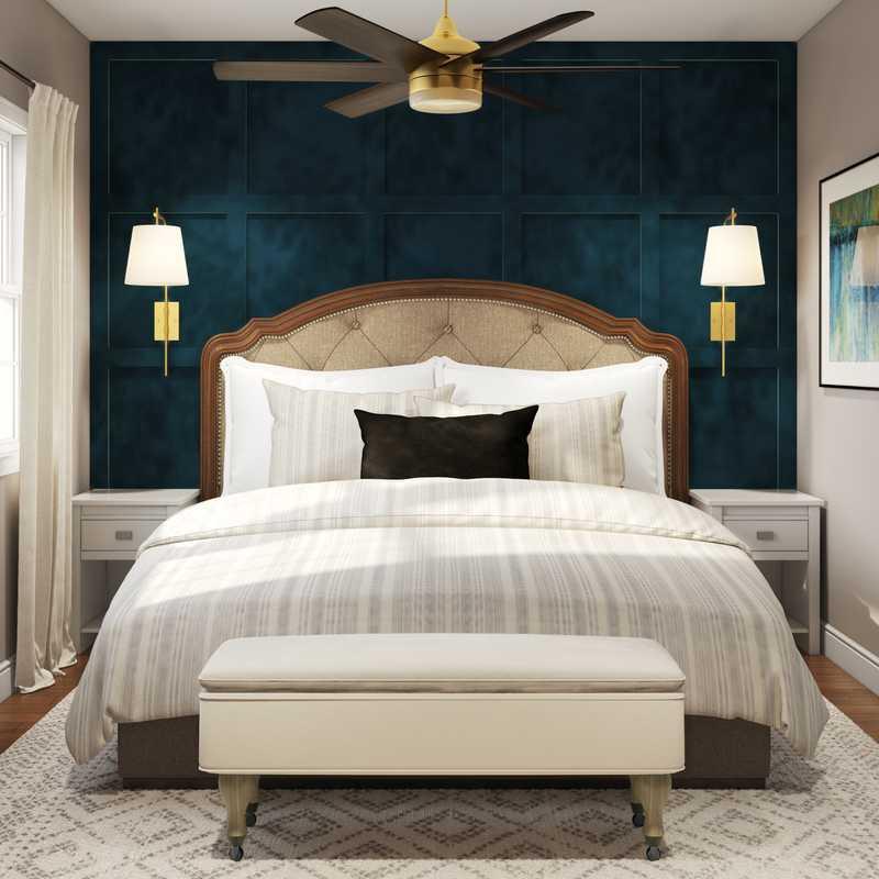 Classic, Transitional, Preppy Bedroom Design by Havenly Interior Designer Shannon