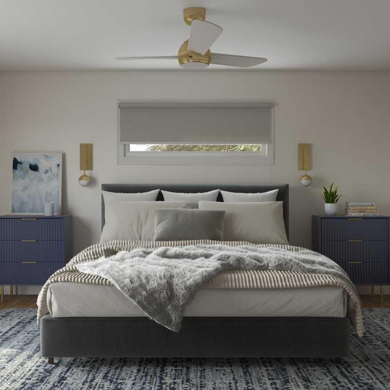 Modern, Glam, Midcentury Modern, Scandinavian Bedroom Design by Havenly Interior Designer Shalene