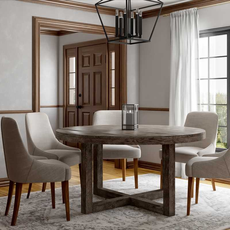 Traditional, Farmhouse Dining Room Design by Havenly Interior Designer Rita