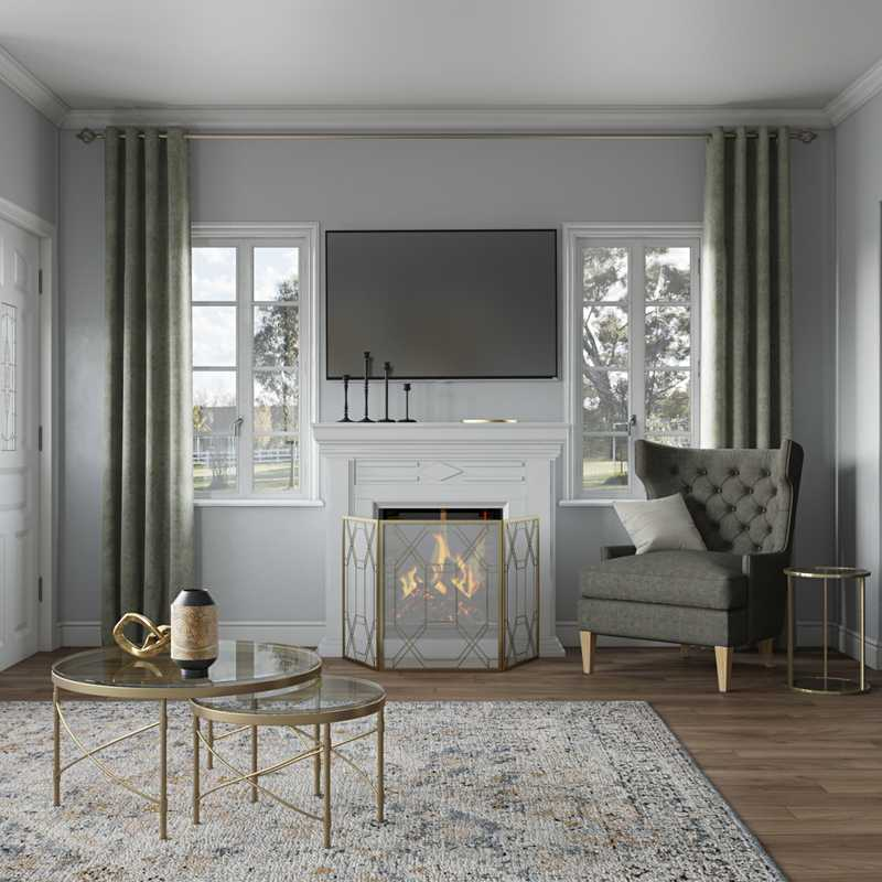Contemporary, Modern, Classic, Glam Living Room Design by Havenly Interior Designer James