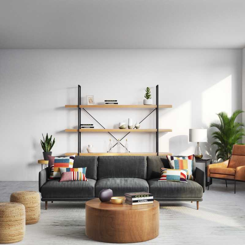 Modern, Eclectic, Coastal Living Room Design by Havenly Interior Designer Shauna