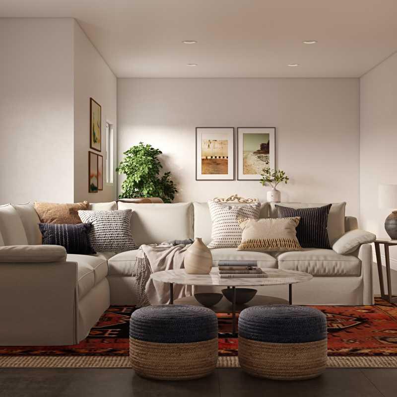 Coastal, Farmhouse, Rustic Living Room Design by Havenly Interior Designer Gretchen