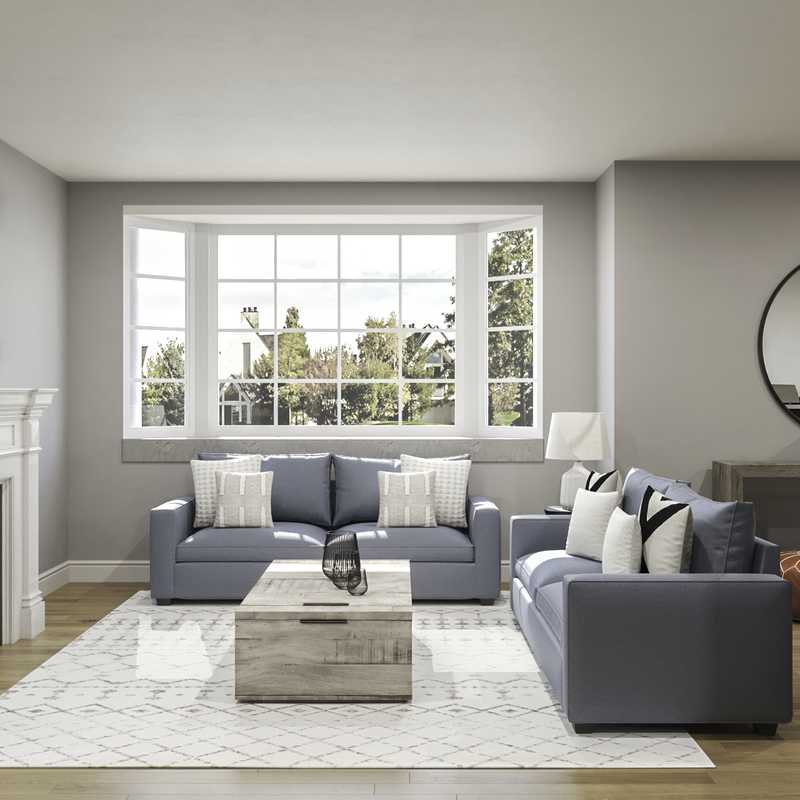 Modern, Classic, Traditional, Farmhouse, Rustic, Transitional Living Room Design by Havenly Interior Designer Natalie
