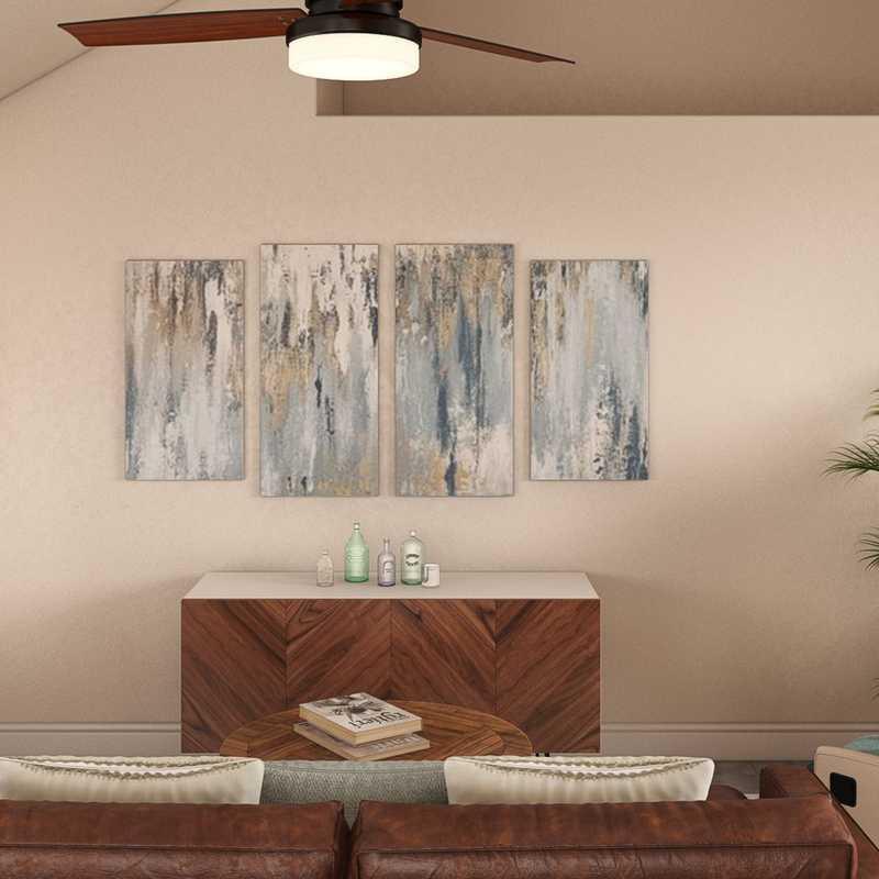 Midcentury Modern, Scandinavian Living Room Design by Havenly Interior Designer Emma