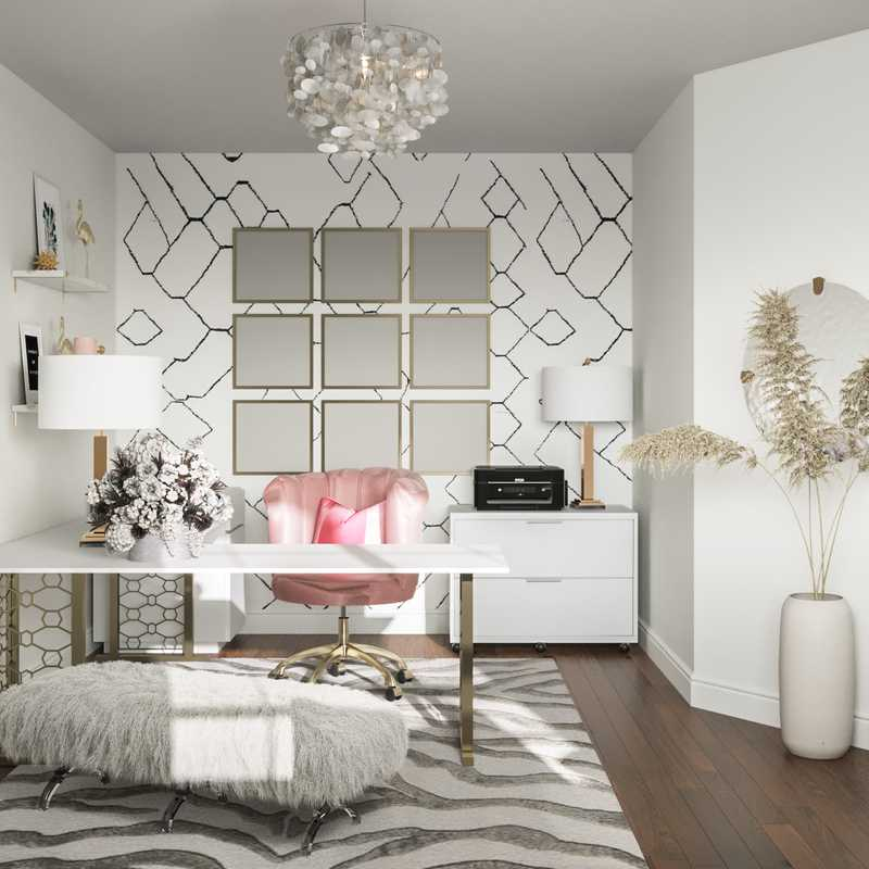 Glam Office Design by Havenly Interior Designer Levi