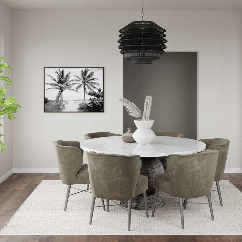 Modern, Farmhouse Dining Room Design by Havenly Interior Designer Kyla