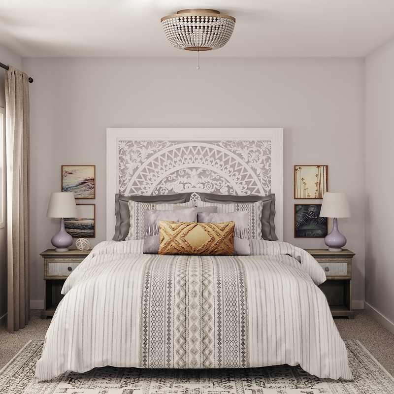 Classic, Bohemian Bedroom Design by Havenly Interior Designer Danielle