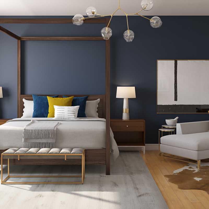Modern, Midcentury Modern, Minimal Bedroom Design by Havenly Interior Designer Diana