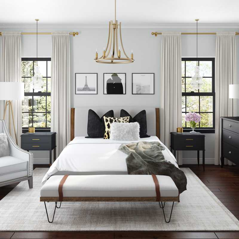 Modern, Classic, Glam, Farmhouse, Rustic, Preppy Bedroom Design by Havenly Interior Designer Sable