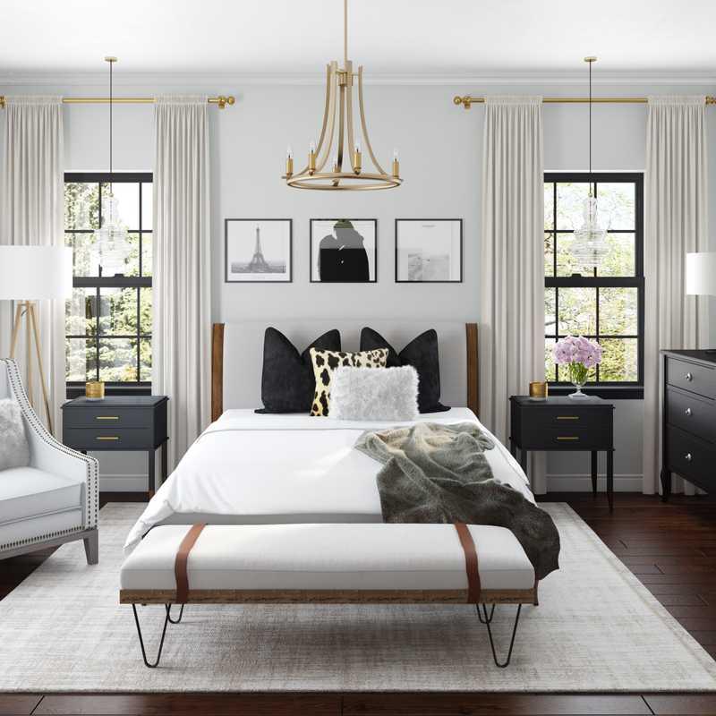 Modern, Classic, Glam, Farmhouse, Rustic, Preppy Bedroom Design by Havenly Interior Designer Sable