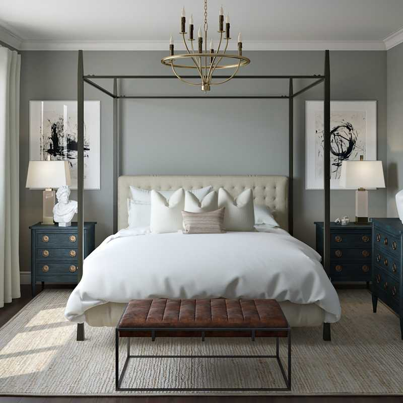 Traditional, Transitional Bedroom Design by Havenly Interior Designer Shannon