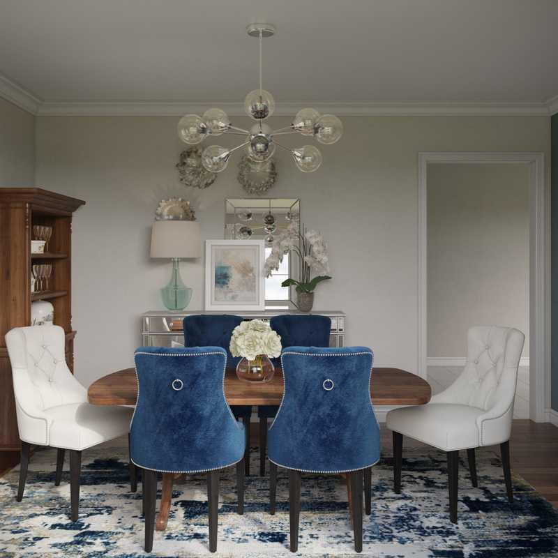 Contemporary, Modern, Classic Dining Room Design by Havenly Interior Designer Regina