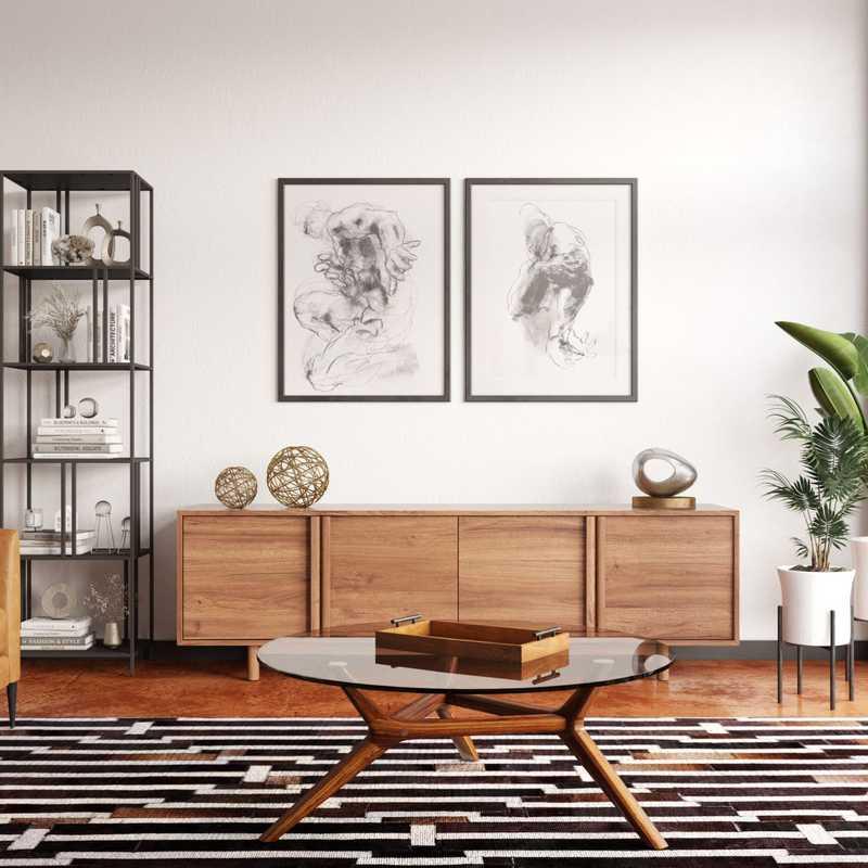 Modern, Midcentury Modern, Minimal Living Room Design by Havenly Interior Designer Erin