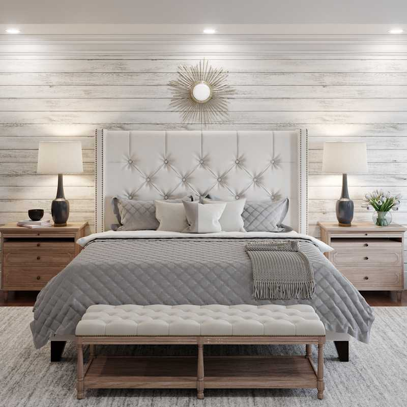 Classic, Farmhouse Bedroom Design by Havenly Interior Designer Katie