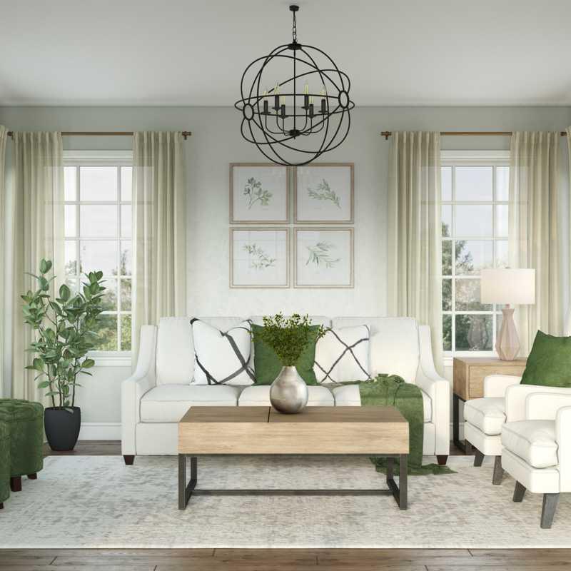 Farmhouse Living Room Design by Havenly Interior Designer Merna