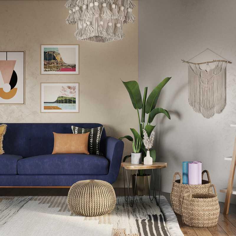 Bohemian Office Design by Havenly Interior Designer Karen