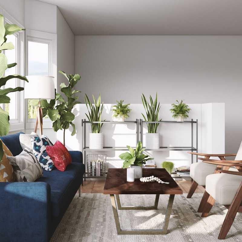 Midcentury Modern Living Room Design by Havenly Interior Designer Jodi