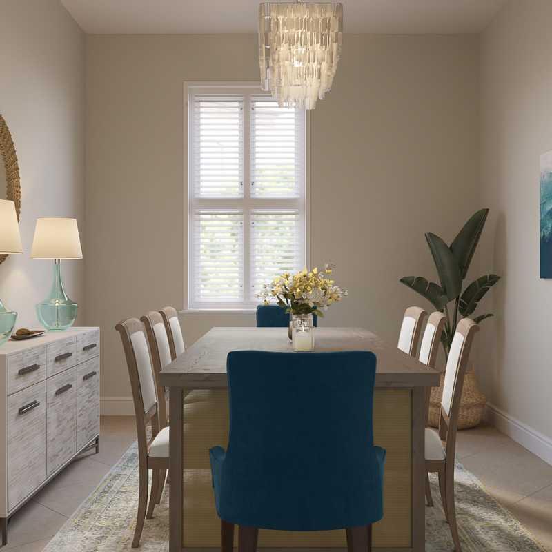Coastal Dining Room Design by Havenly Interior Designer Yoseika