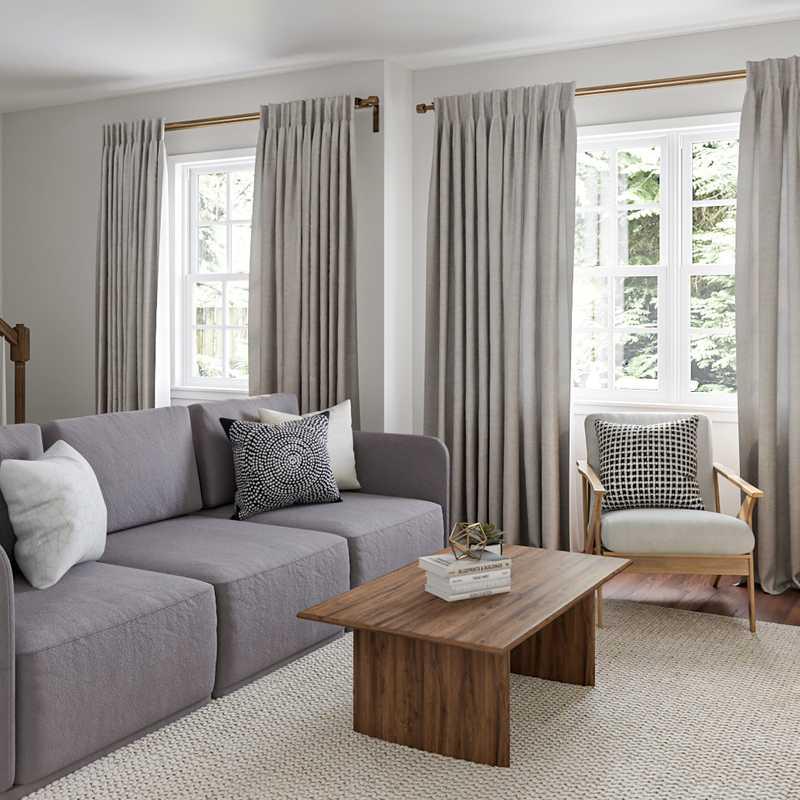 Modern, Bohemian, Glam Living Room Design by Havenly Interior Designer Shaina