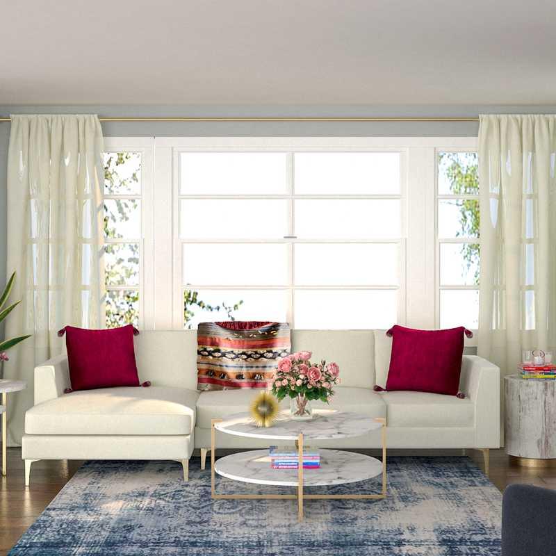 Modern, Eclectic, Bohemian, Glam Living Room Design by Havenly Interior Designer Alex