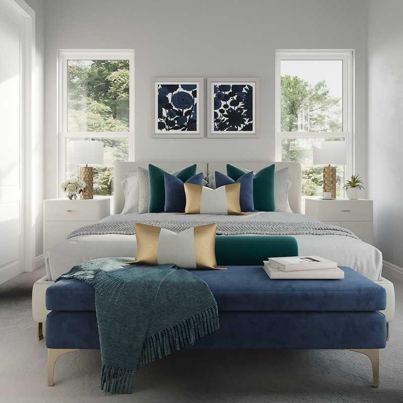 Contemporary, Modern, Glam Bedroom Design by Havenly Interior Designer Cristina