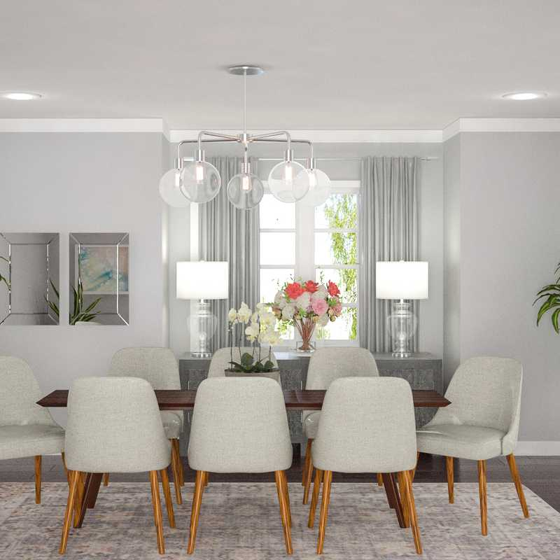 Contemporary, Traditional Dining Room Design by Havenly Interior Designer Levi