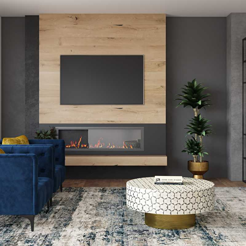 Contemporary, Modern, Minimal Living Room Design by Havenly Interior Designer Amanda