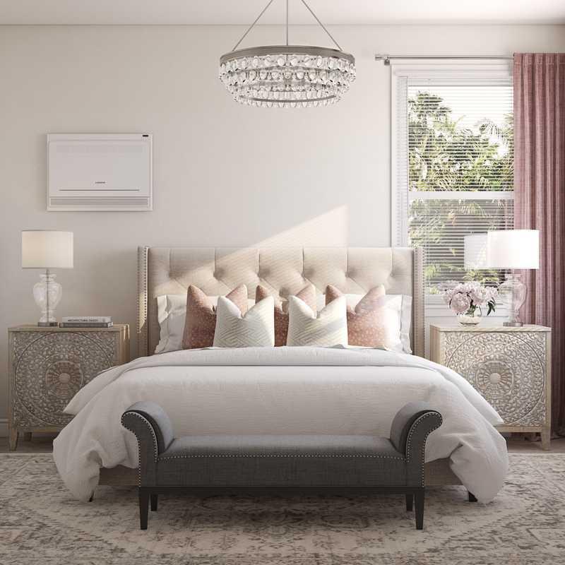 Glam, Transitional Bedroom Design by Havenly Interior Designer Brittney