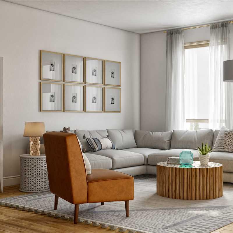 Transitional Living Room Design by Havenly Interior Designer Kate
