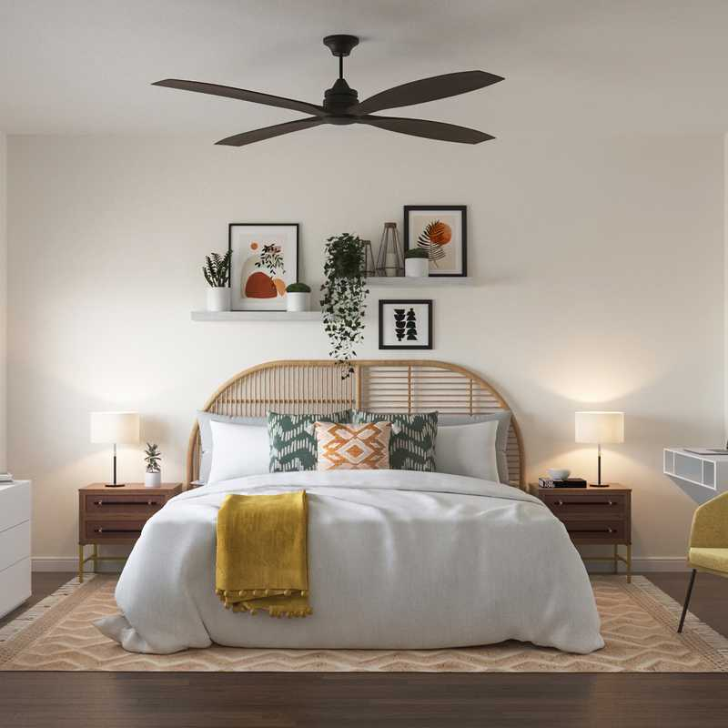 Modern, Eclectic, Bohemian, Transitional Bedroom Design by Havenly Interior Designer Shruti