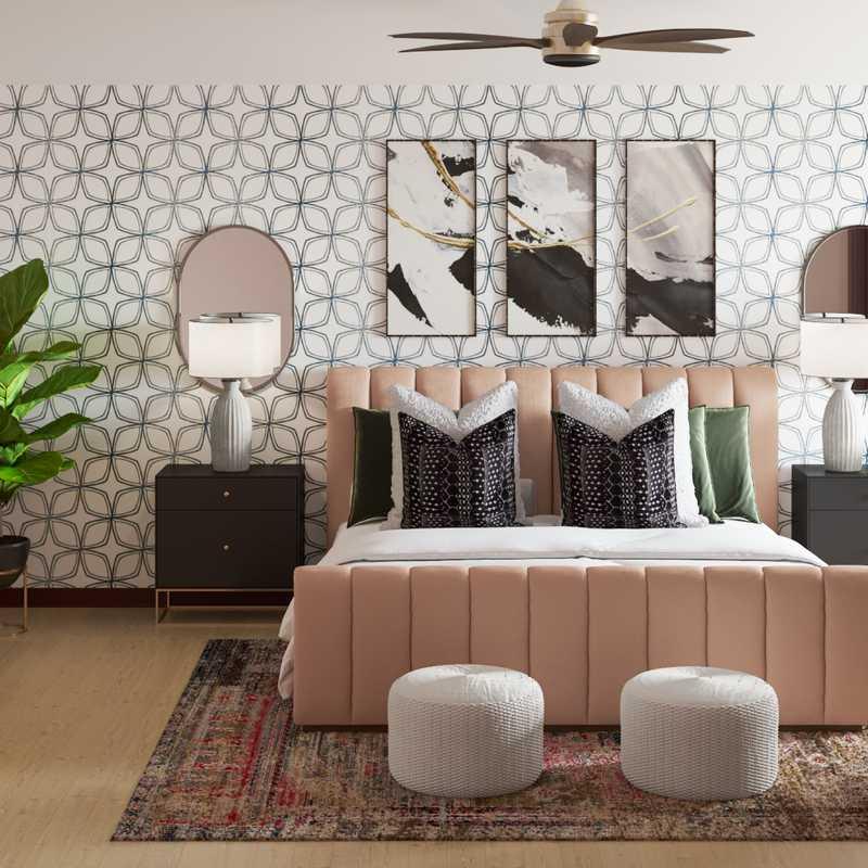 Bohemian, Glam Bedroom Design by Havenly Interior Designer Ingrid