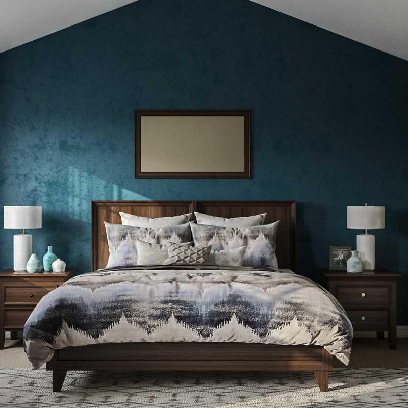 Contemporary, Modern, Transitional Bedroom Design by Havenly Interior Designer Nichole
