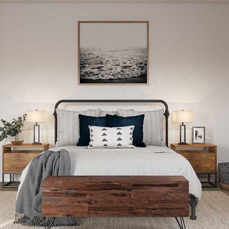 Modern, Industrial, Rustic, Transitional Bedroom Design by Havenly Interior Designer Danielle