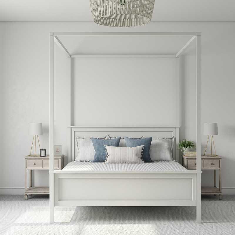 Coastal, Traditional, Farmhouse Bedroom Design by Havenly Interior Designer Nichole