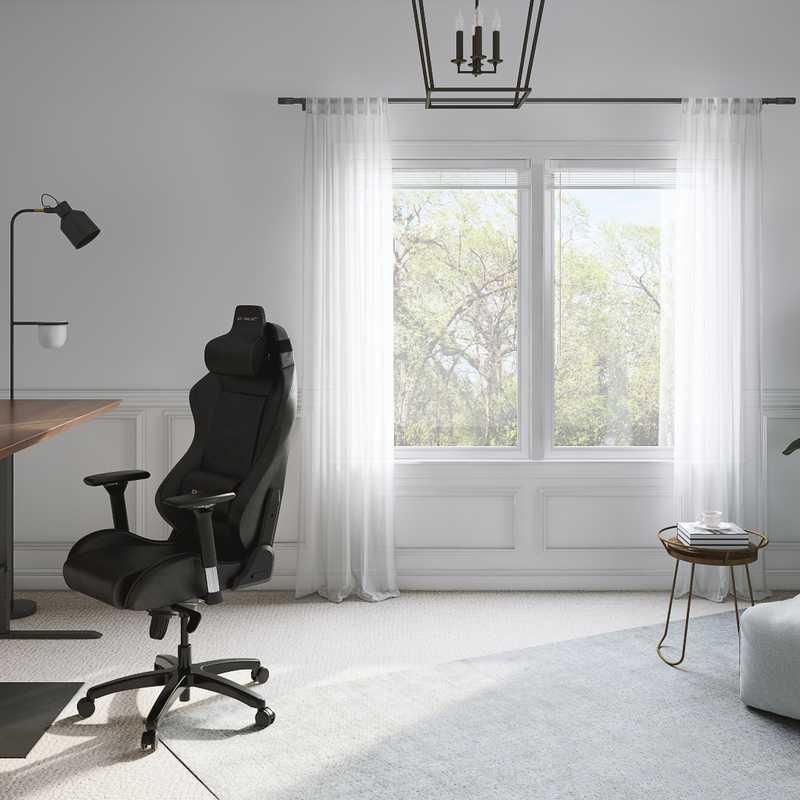 Midcentury Modern, Minimal Office Design by Havenly Interior Designer Maria