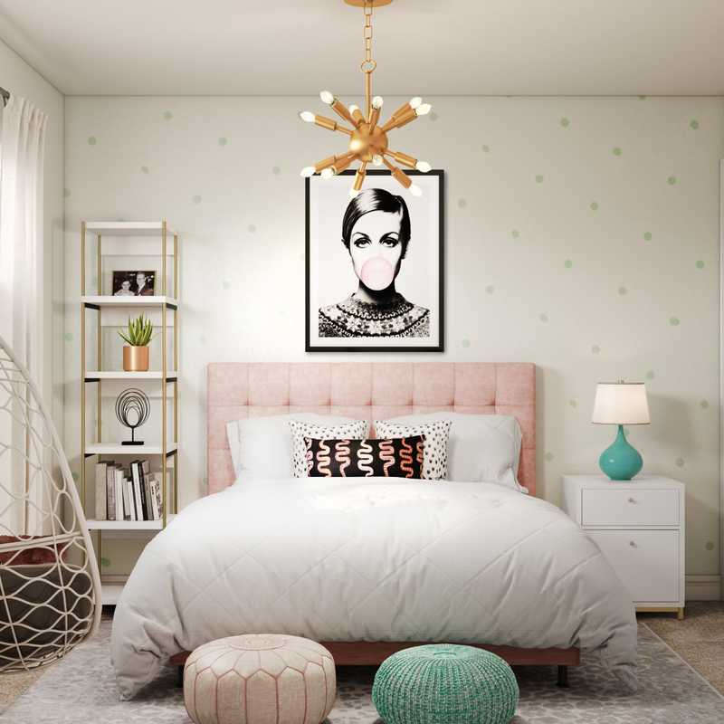 Glam, Preppy Bedroom Design by Havenly Interior Designer Kacey
