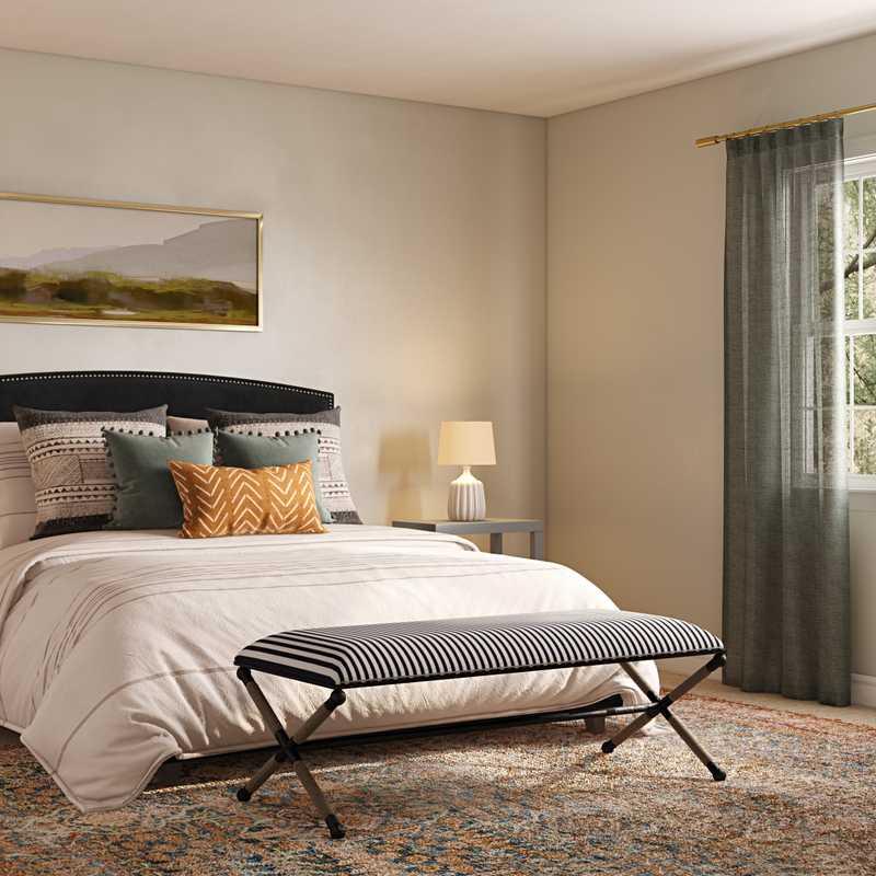 Modern, Vintage Bedroom Design by Havenly Interior Designer Caroline