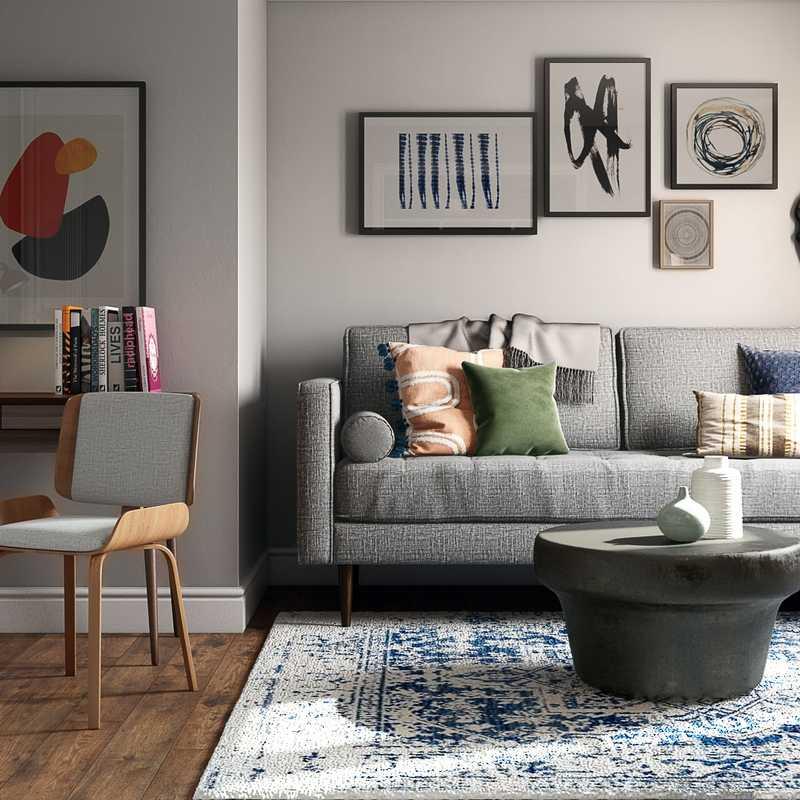 Eclectic, Global Office Design by Havenly Interior Designer Sam
