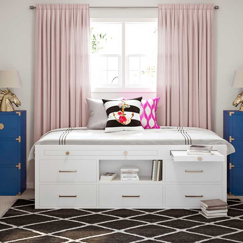 Glam Bedroom Design by Havenly Interior Designer Kamila