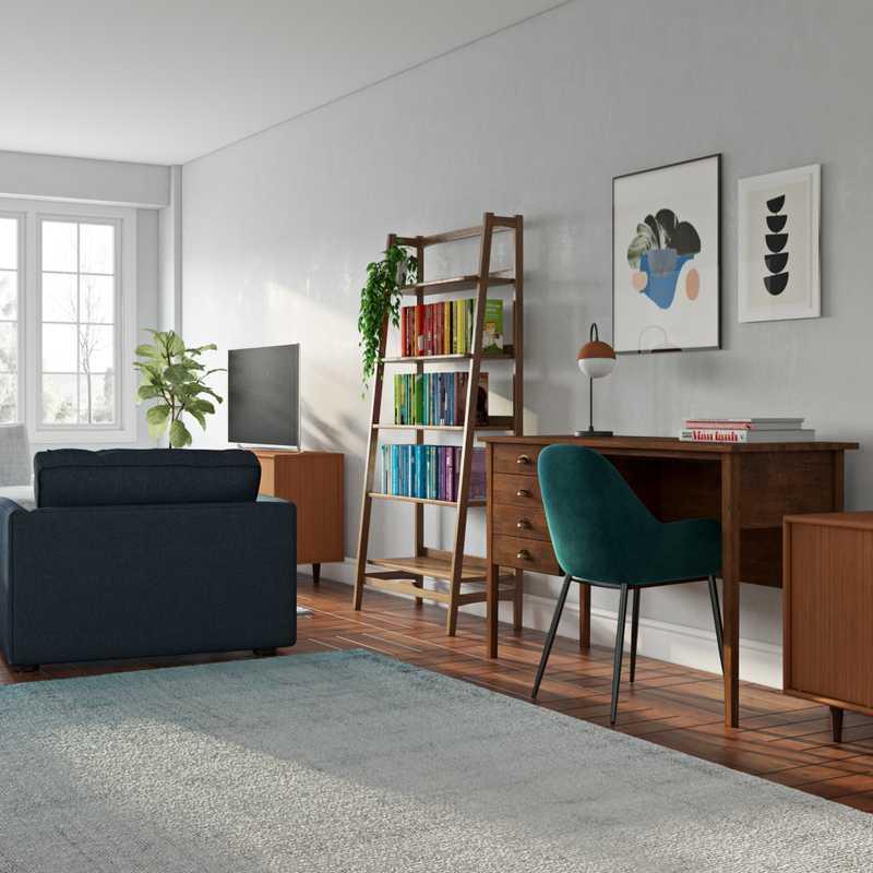Contemporary, Modern, Midcentury Modern Living Room Design by Havenly Interior Designer Isabelle