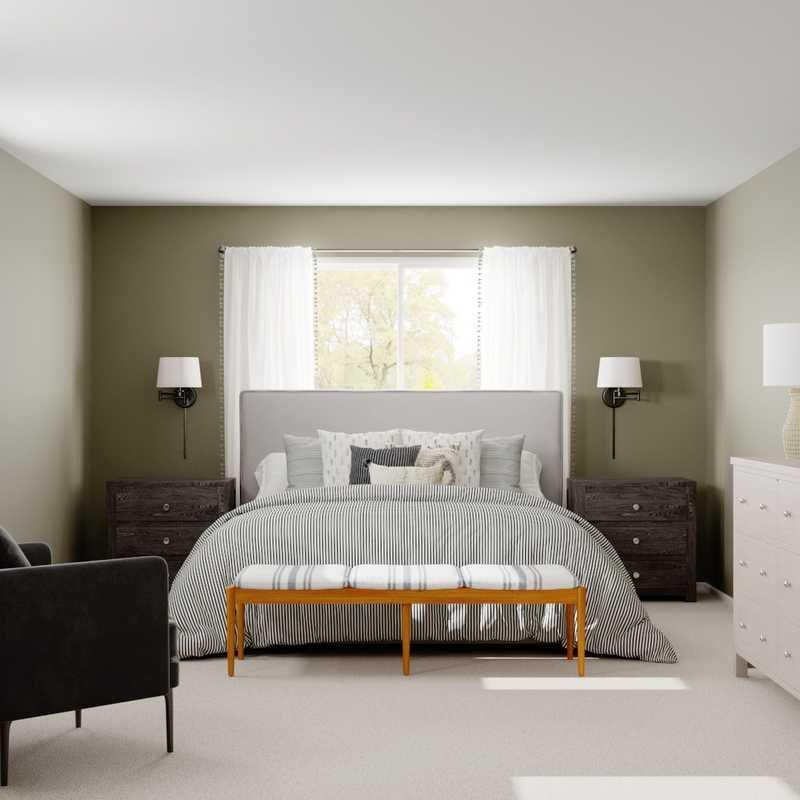 Modern, Farmhouse, Rustic Bedroom Design by Havenly Interior Designer Paige