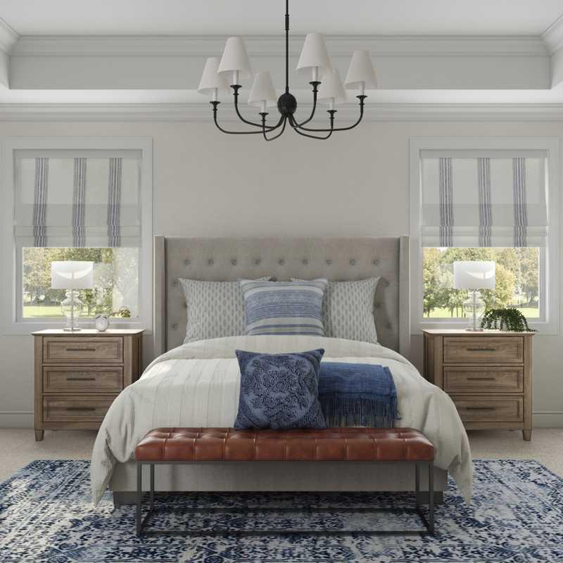 Modern, Transitional Bedroom Design by Havenly Interior Designer Emily