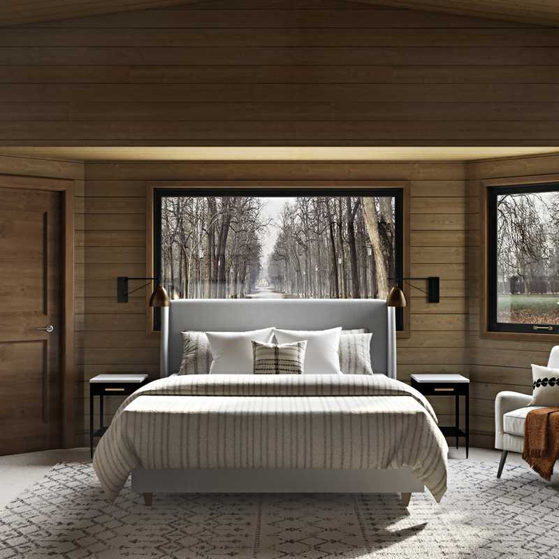 Contemporary, Rustic, Midcentury Modern, Scandinavian Bedroom Design by Havenly Interior Designer Lisa