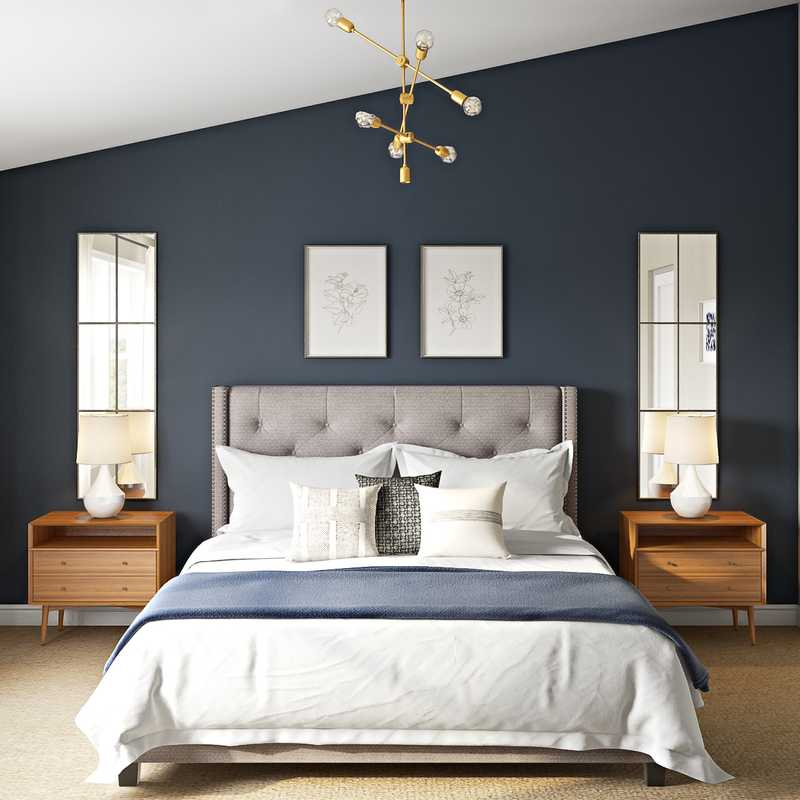 Modern, Midcentury Modern, Minimal Bedroom Design by Havenly Interior Designer Chelsea
