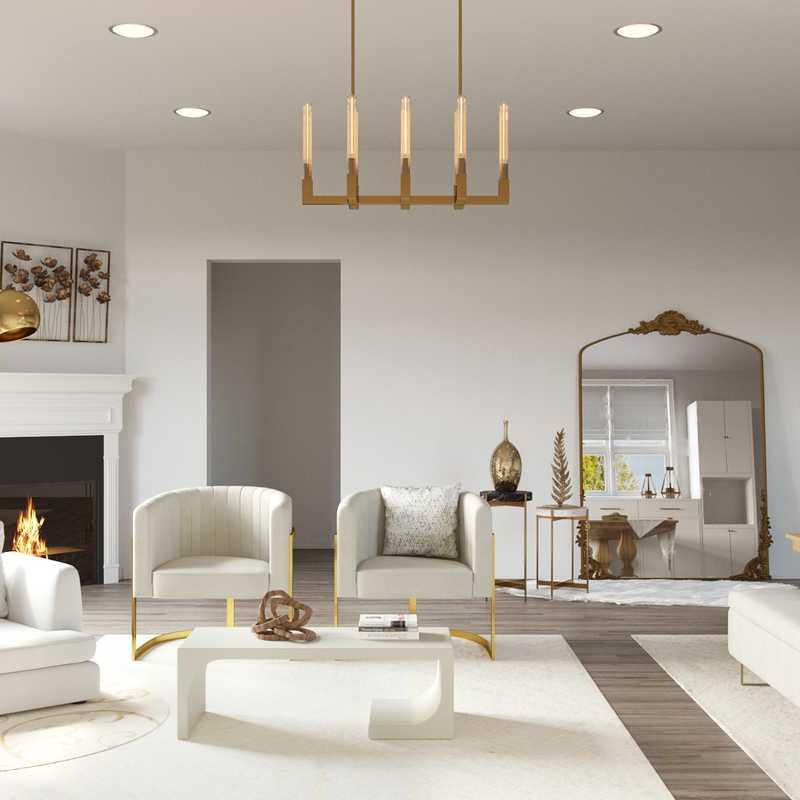 Contemporary, Modern Living Room Design by Havenly Interior Designer Denise