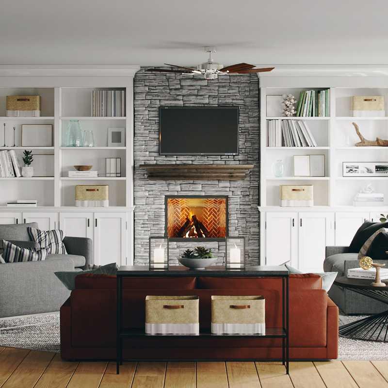 Classic, Coastal, Industrial, Farmhouse Living Room Design by Havenly Interior Designer Arissa
