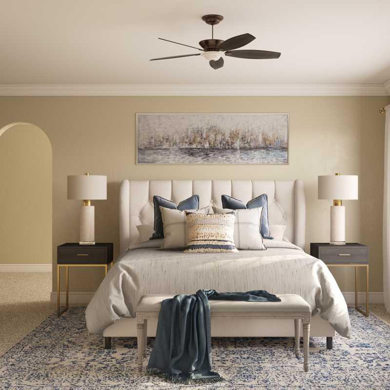 Coastal, Farmhouse Bedroom Design by Havenly Interior Designer Merna